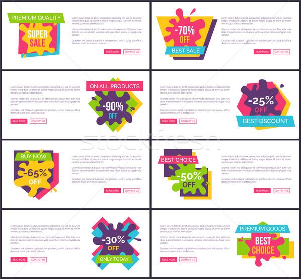 Premium Quality Super Sale Web Vector Illustration Stock photo © robuart