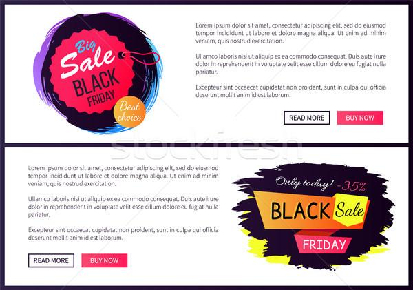 Grande venta black friday web hoy Foto stock © robuart