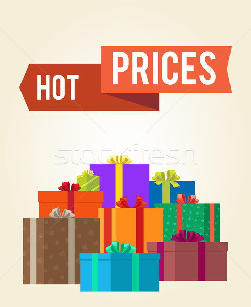 Hot Prices Reduction Clearance Sale Labels Ribbon Stock photo © robuart
