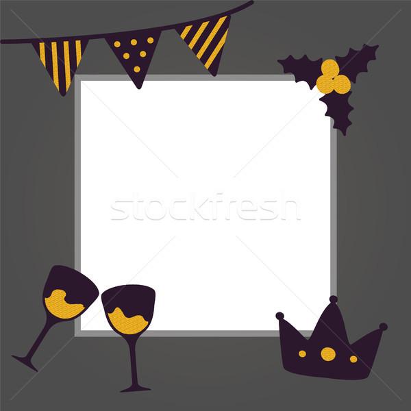 New Year Congratulation Poster Vector Illustration Stock photo © robuart