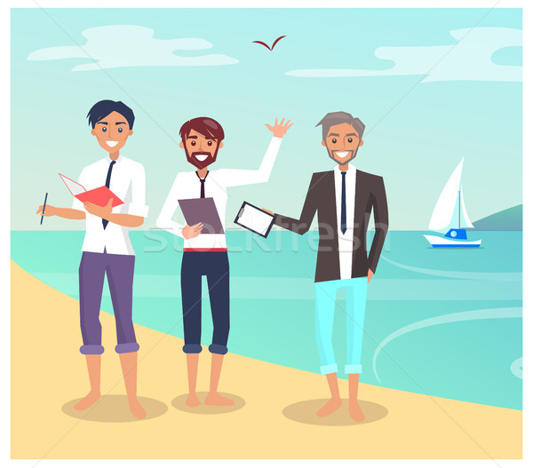 Business Travelling People Vector Illustration Stock photo © robuart
