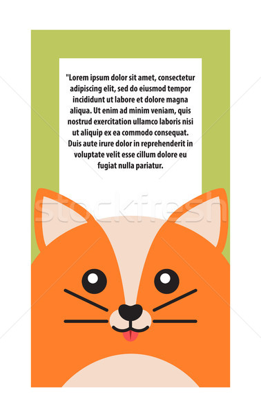 Animal Cover Cat and Text Vector Illustration Stock photo © robuart