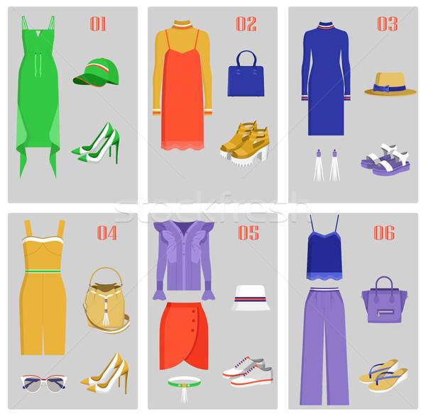 Сток-фото: одежды · коллекция · набор · моде · женщины