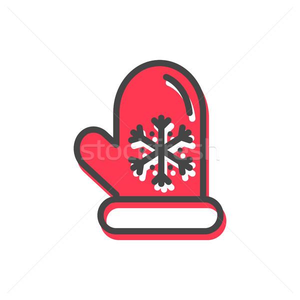 Natal tradição ícone quente luva vermelho Foto stock © robuart