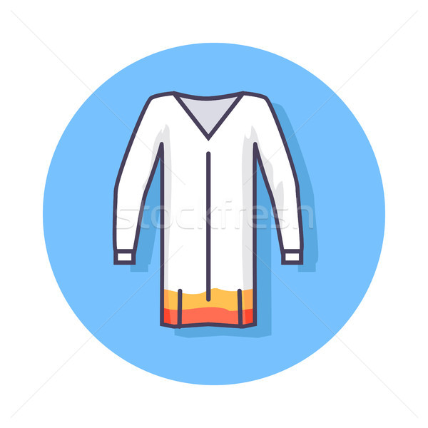 Circle Icon Depicting Unisex Beach Tunic Stock photo © robuart