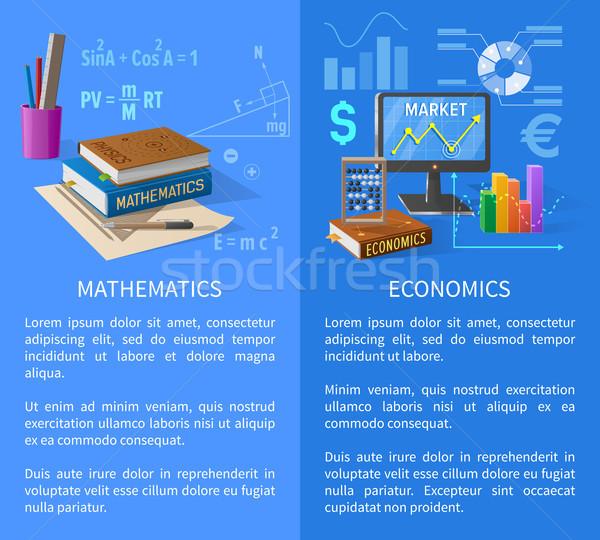 Wiskunde economie info poster charts Stockfoto © robuart