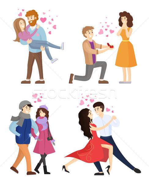Сток-фото: набор · пары · любви · Dance · танго