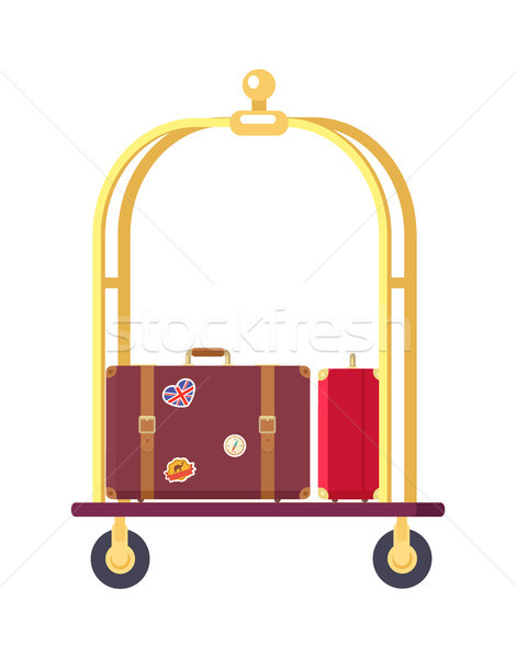 Two Bags on Cute Bogie Vector Illustration Stock photo © robuart