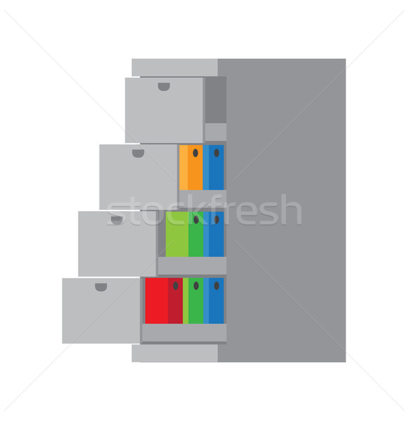 Grey Container Template Color Vector Illustration Stock photo © robuart