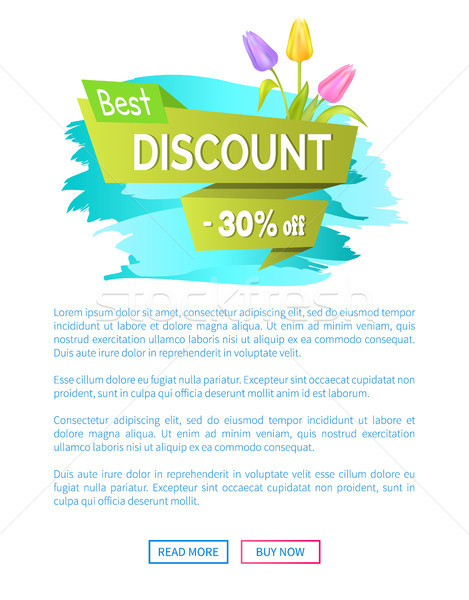 Best Discount 30 Off Advertisement Sticker Sale Stock photo © robuart