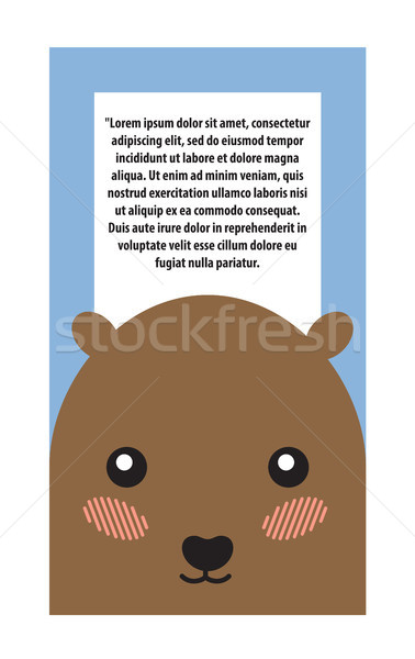 Hamster Head Book Cover Design Vector Illustration Stock photo © robuart