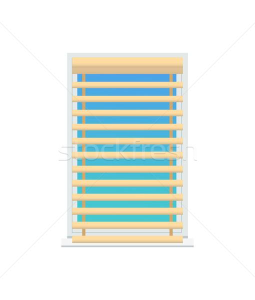 Jalousie Set on Window, Color Vector Illustration Stock photo © robuart