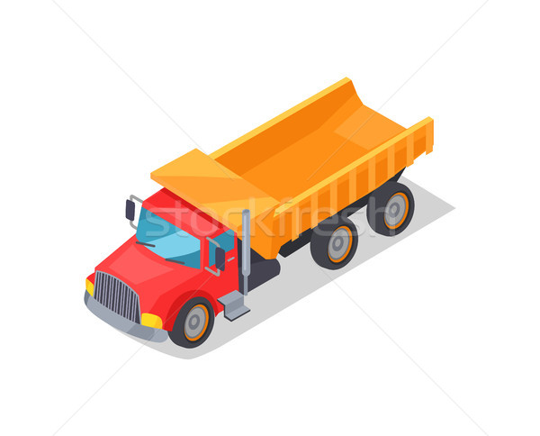 Truck Transportation Poster Vector Illustration Stock photo © robuart