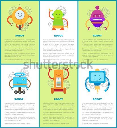 Robot Collection of Banners Vector Illustration Stock photo © robuart