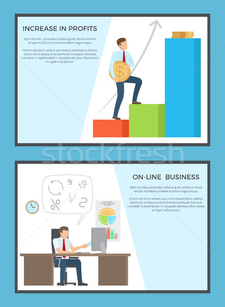 Online business posters Stockfoto © robuart