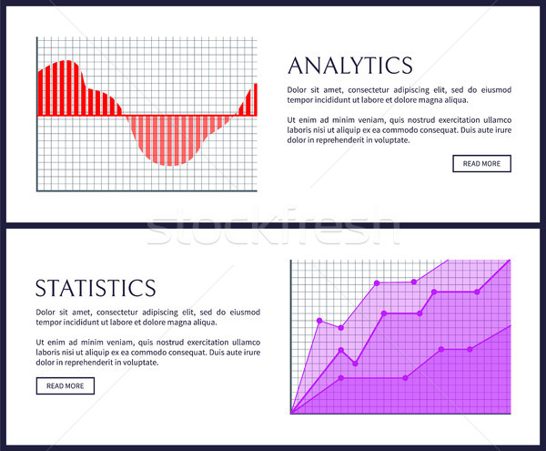 Stockfoto: Analytics · statistiek · web · posters · graphics · bars