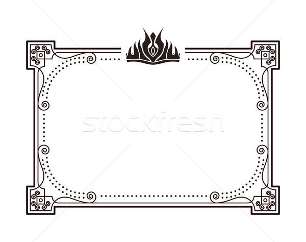 кадр важный документы корона прямоугольный Сток-фото © robuart