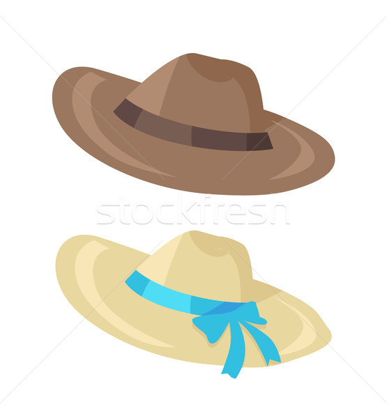 Hat for Men Women Collection Vector Illustration Stock photo © robuart
