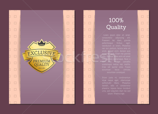 100 Quality Award Exclusive Premium Brand Label Stock photo © robuart