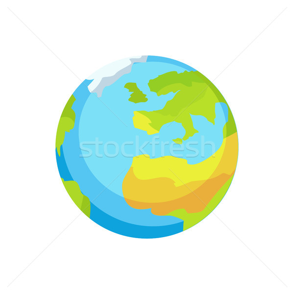 Earth with Garbage Amount Pointed on Continents Stock photo © robuart
