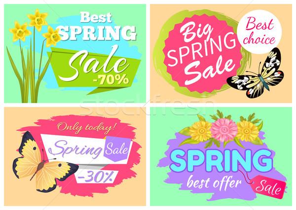 Wiosną dzisiaj oferta specjalna najlepszy sprzedaży Zdjęcia stock © robuart