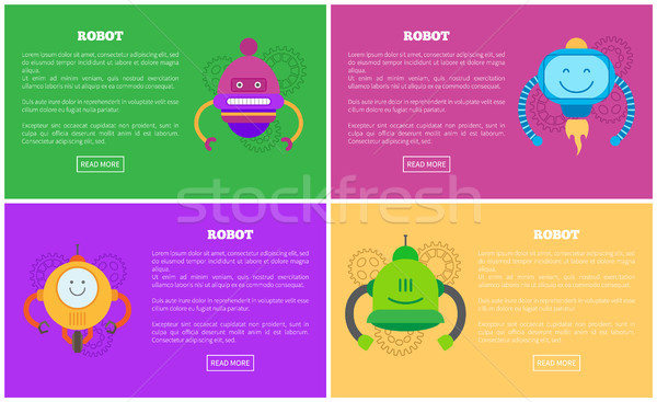 Robots Automated Mechanisms Vector Illustration Stock photo © robuart