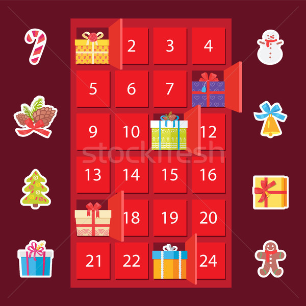 Strongbox with Presents Set Vector Illustration Stock photo © robuart