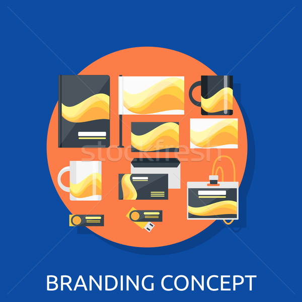 Branding Icon Concept Flat Design Stock photo © robuart