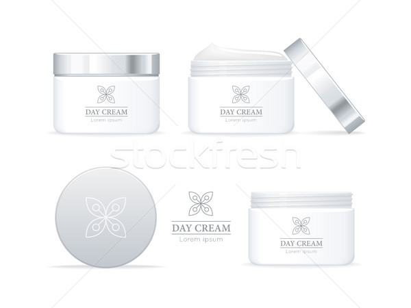 Day Cream Bottles Collection. Cosmetic Product Stock photo © robuart