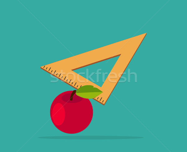 Red Apple with Yellow Measuring Ruler Stock photo © robuart