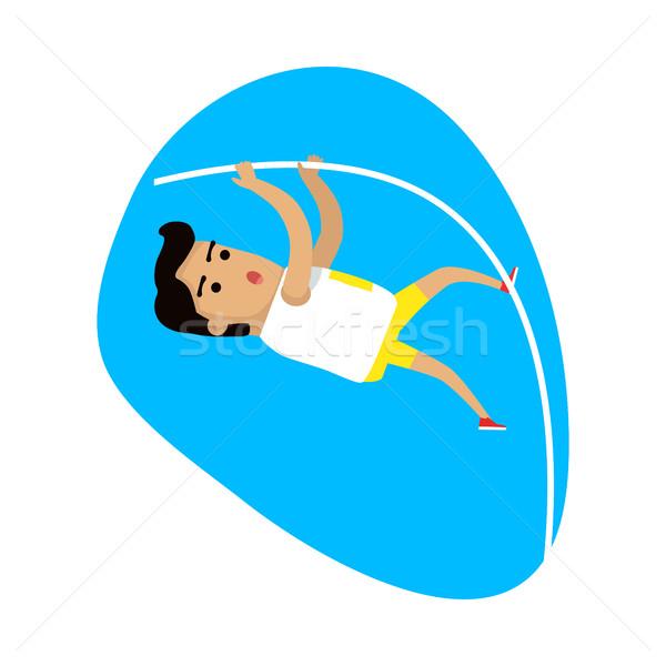 Atléta előad pólus agykoponya sportok ikon Stock fotó © robuart