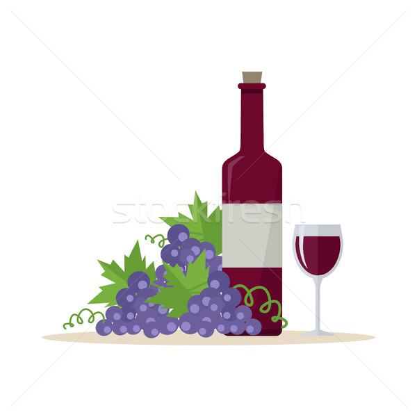Wine Production Banner. Poster for Red Vine Stock photo © robuart
