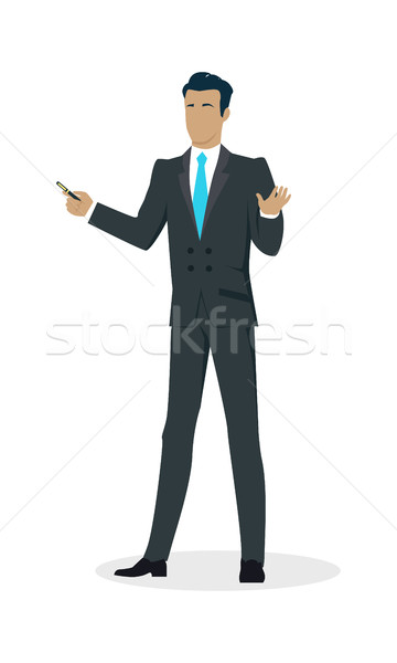 Businessman with Pointer Stock photo © robuart