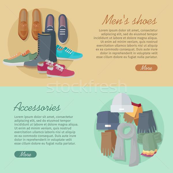 ストックフォト: 男性 · 靴 · 秋 · 冬 · コレクション