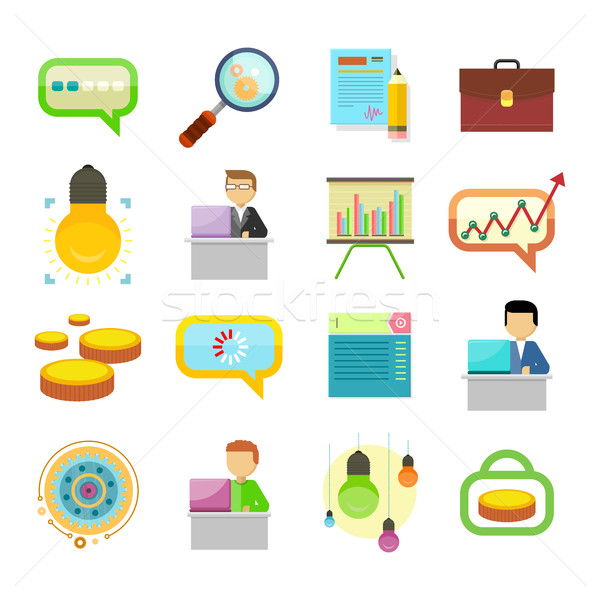 Performance Analysis Search for Solutions Icon Set Stock photo © robuart