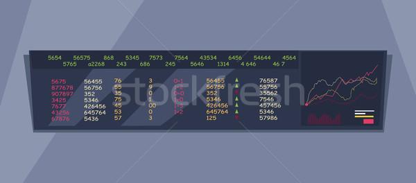 Stock Exchange Index Monitoring Concept Vector Stock photo © robuart