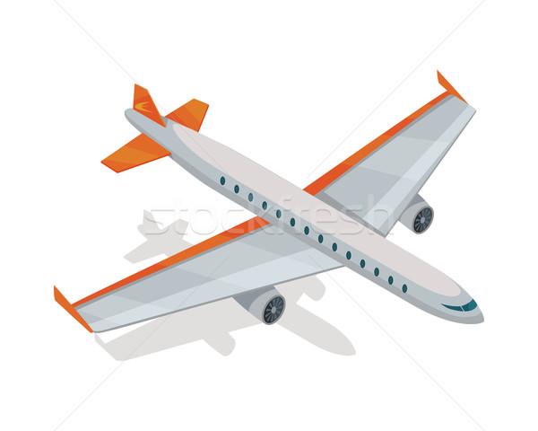 飛行機 ベクトルのアイコン アイソメトリック 投影 アイコン 航空機 ストックフォト © robuart