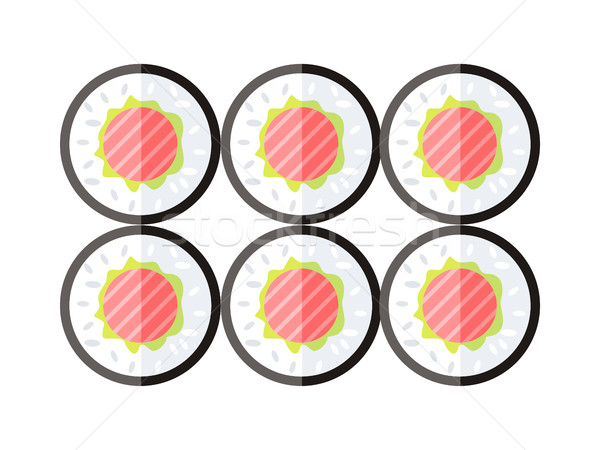 Sushis illustration design alimentaire vecteur traditionnel Photo stock © robuart