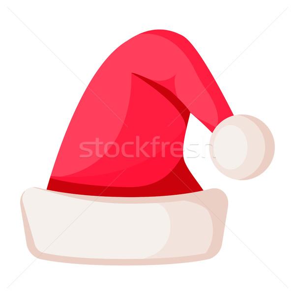 Kerstman winter wollen hoed geïsoleerd witte Stockfoto © robuart