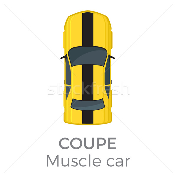 Muscle car coupe top vector icon icon Stockfoto © robuart