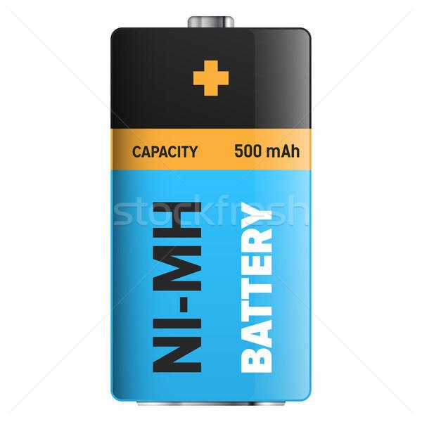 Big Ultra Longlife Battery Isolated Illustration Stock photo © robuart