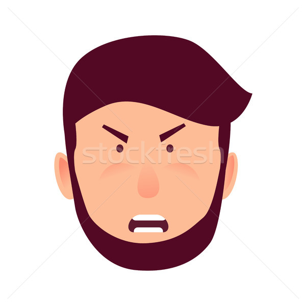 Emotion of Strong Anger Isolated Illustration Stock photo © robuart