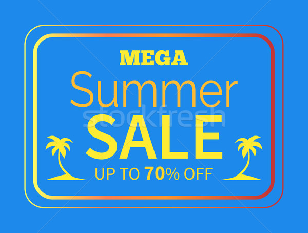 Summer Sale up to 70 off Colorful Illustration Stock photo © robuart