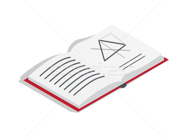 Open Geometry Textbook with Draft Illustration Stock photo © robuart
