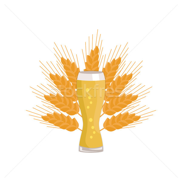 Weizen Glass of Beer Isolated on White Background Stock photo © robuart