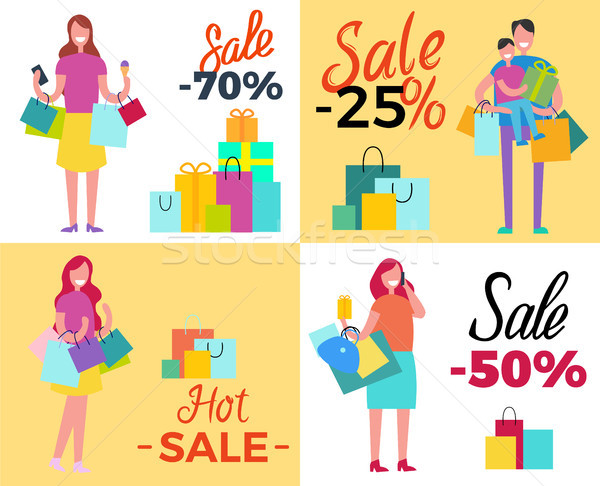 Set of Sale Propositions Vector Illustration Stock photo © robuart