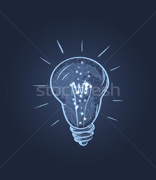 Elektryczne żarówki ikona świetle bazgroły Zdjęcia stock © robuart