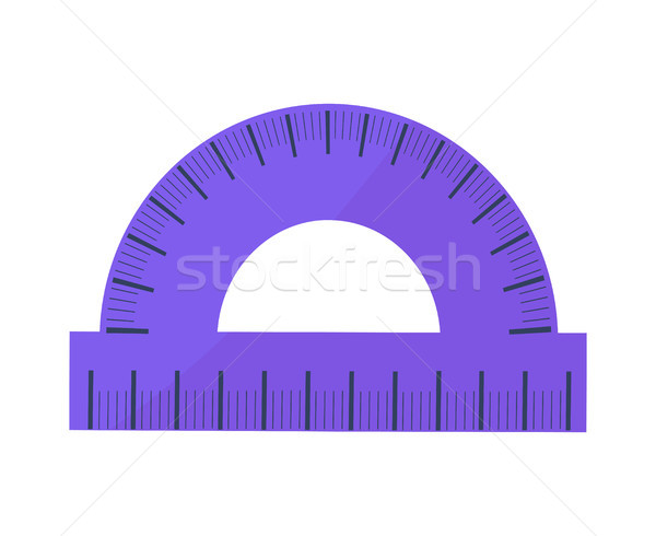 Blue Protractor Vector Illustration Icon Isolated Stock photo © robuart