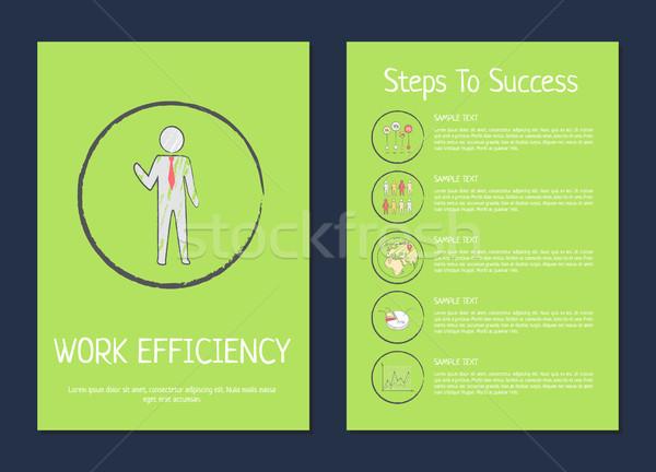 作業 効率 成功 手順 緑 ビジネスマン ストックフォト © robuart