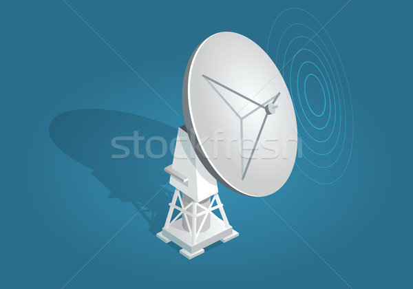 Radar Dish Satellites Dish Flat and Shadow Theme Stock photo © robuart